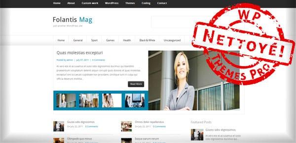 Folantis Mag - Theme WordPress Gratuit