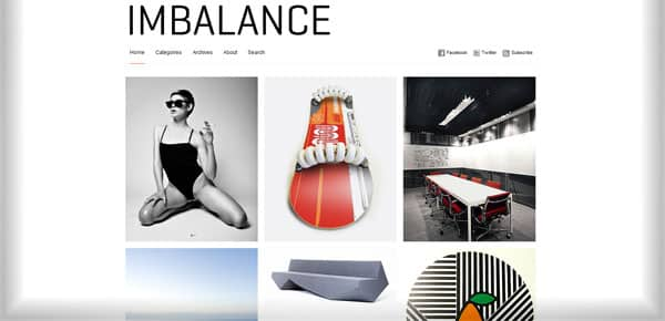 Imbalance - Theme WordPress Gratuit Minimaliste
