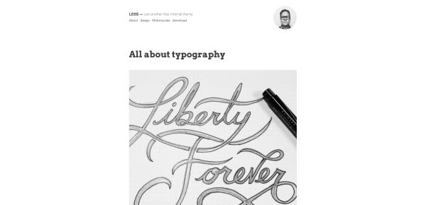 less wordpress theme