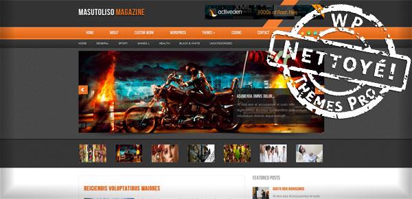 Masutoliso Magazine - Theme WordPress Gratuit