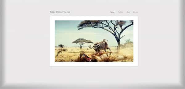 Mini Folio - Theme WordPress Gratuit