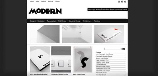 Modern Dessign - Theme WordPress Gratuit Minimaliste