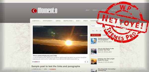 Momento - Theme WordPress Gratuit