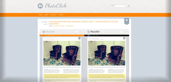 Photoclick - Theme WordPress Gratuit