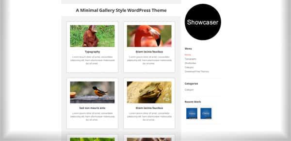 Showcaser - Theme WordPress Gratuit