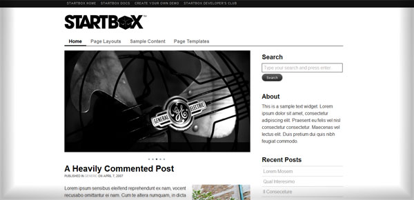 Startbox - Theme WordPress Gratuit Minimaliste