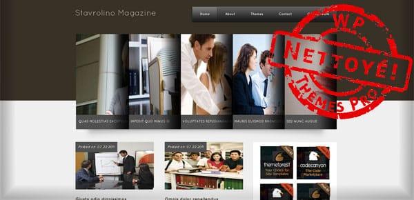 Stavrolino Magazine - Theme WordPress Gratuit
