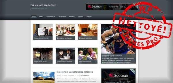 Tapalanos Magazine - Theme WordPress Gratuit
