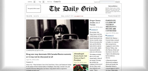 The Daily Grind - Theme WordPress Gratuit Minimaliste