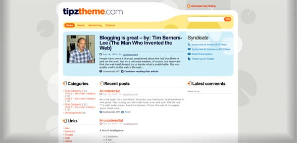 Tipztheme - Theme WordPress Gratuit