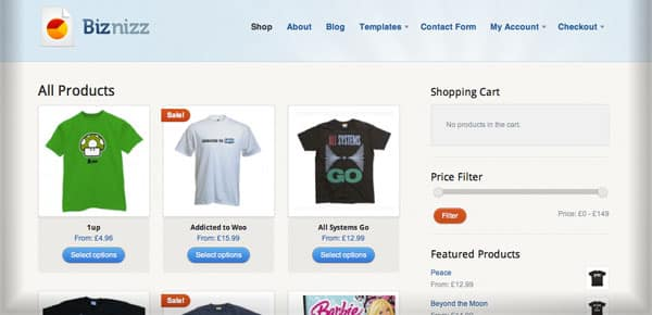 Biznizz - Un thème WordPress E-Commerce