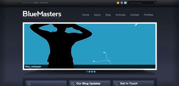 Blue Masters - Un Theme WordPress Sombre et Gratuit