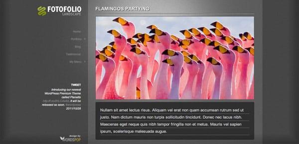 Fotofolio - Un Theme WordPress Sombre et Gratuit