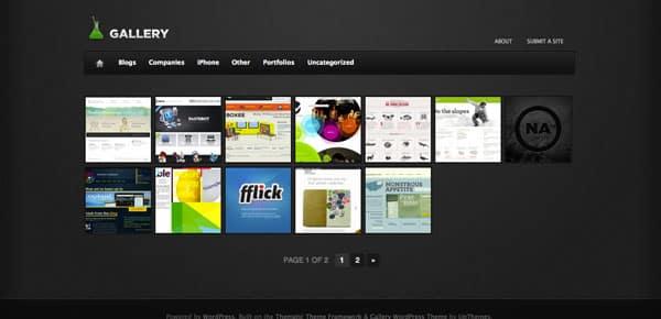 Gallery - Un Theme WordPress Sombre et Gratuit