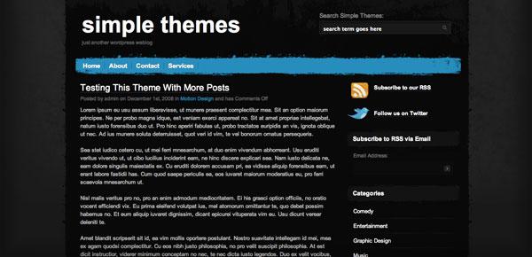 Hurricane - Un Theme WordPress Sombre et Gratuit