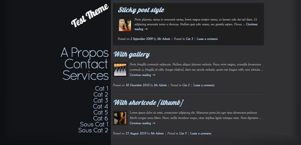 iTypo - Un Theme WordPress Sombre et Gratuit