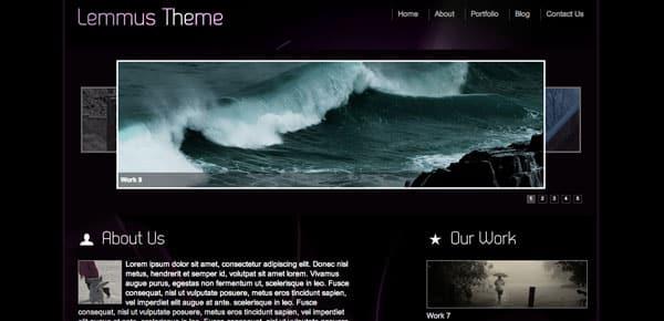 Lemmus - Un Theme WordPress Sombre et Gratuit