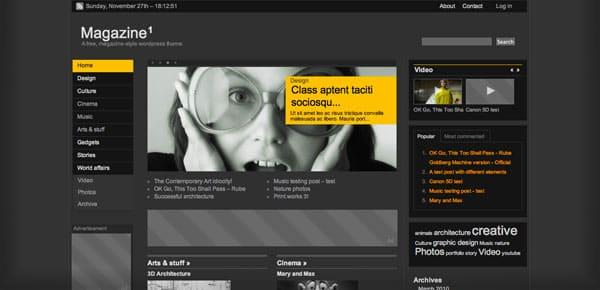 Magazine - Un Theme WordPress Sombre et Gratuit