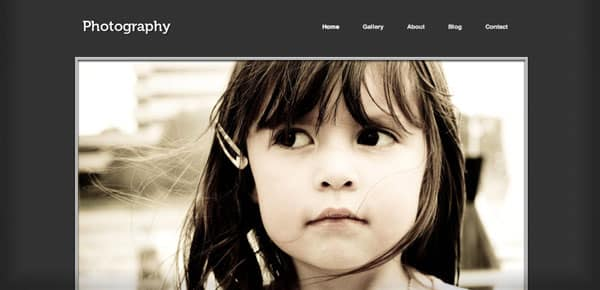 Photography - Un Theme WordPress Sombre et Gratuit