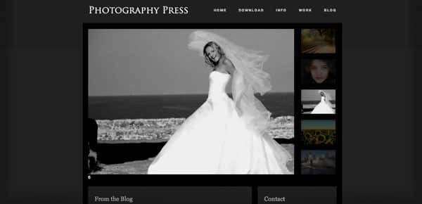 Photography Press - Un Theme WordPress Sombre et Gratuit