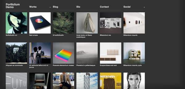 Portfolium - Un Theme WordPress Sombre et Gratuit