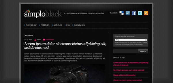 Simplo Black - Un Theme WordPress Sombre et Gratuit