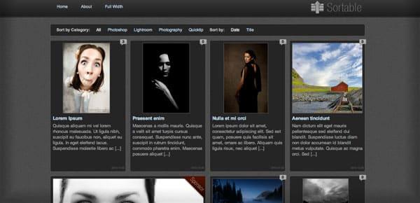 Sortable - Un Theme WordPress Sombre et Gratuit