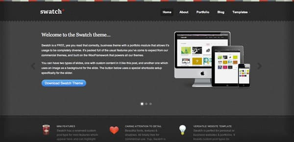 Swatch - Un Theme WordPress Sombre et Gratuit