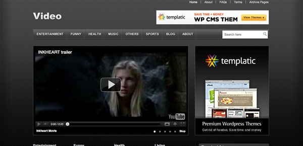 Video - Un Theme WordPress Sombre et Gratuit
