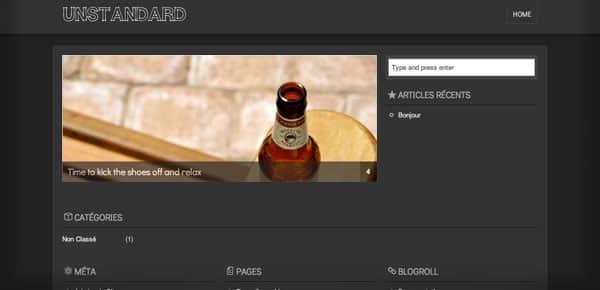 Unstandard - Un Theme WordPress Sombre et Gratuit