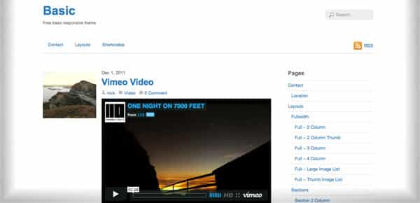 Basic - Nouveau Theme WordPress Gratuit 2012