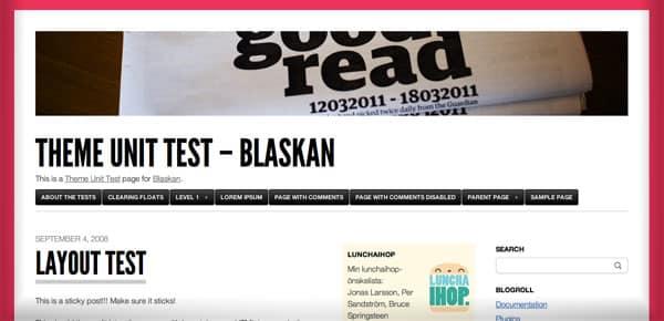 Blaskan - Nouveau Theme WordPress Gratuit 2012