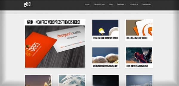 GridFolio - Nouveau Theme WordPress Gratuit 2012