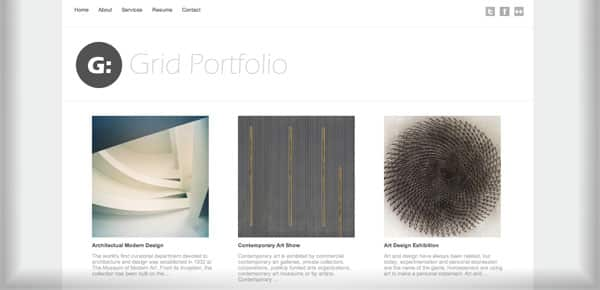 Grid Portfolio - Nouveau Theme WordPress Gratuit 2012