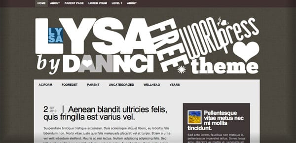Lysa - Nouveau Theme WordPress Gratuit 2012