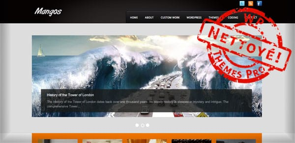 Mangos - Nouveau Theme WordPress Gratuit 2012