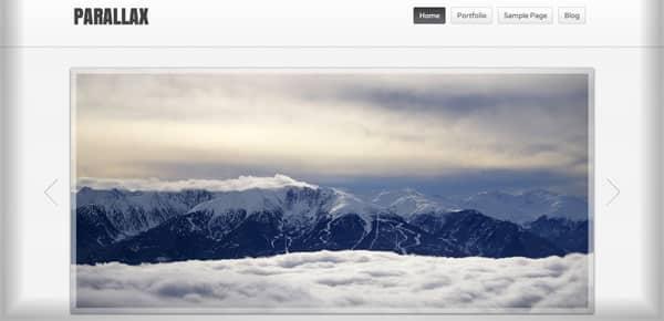 Parallax - Nouveau Theme WordPress Gratuit 2012