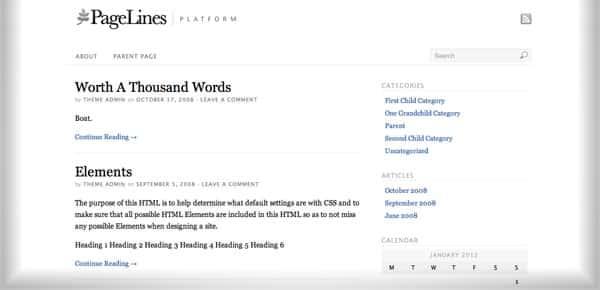 Platform - Nouveau Theme WordPress Gratuit 2012