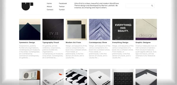 Ultragrid - Nouveau Theme WordPress Gratuit 2012