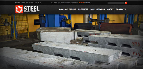 Theme WordPress Business - Steel
