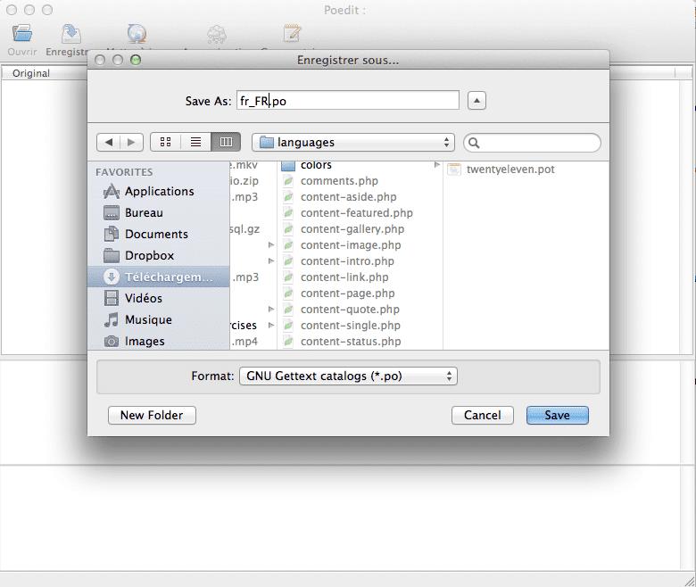 Traduire son Thème WordPress - Enregistrer fichier po