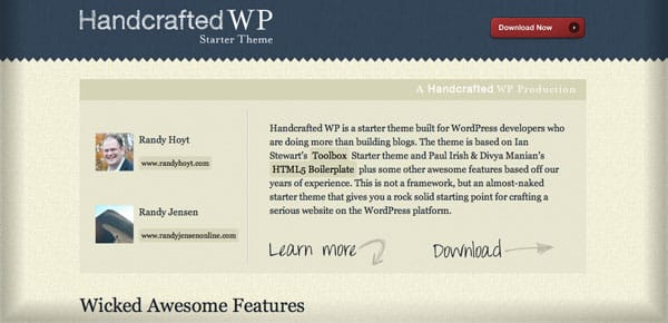 Thème WordPress Gratuit - Handcrafted