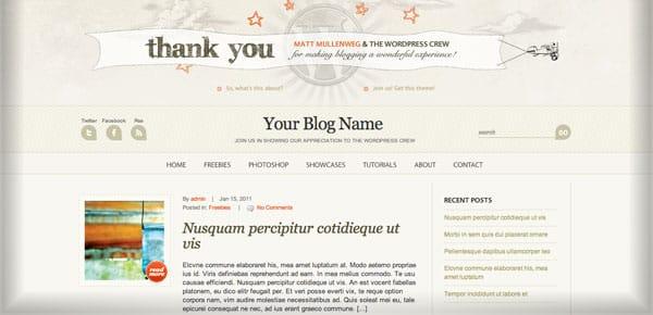 Thème WordPress Gratuit - WP Anniversary