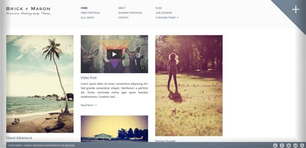 Thème WordPress Grille - Brick + Mason