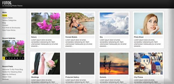 Thème WordPress Grille - Fotos