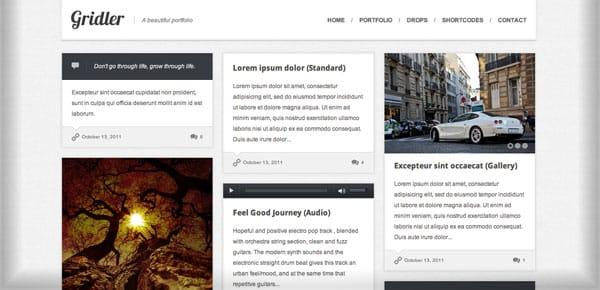 Thème WordPress Grille - Gridler