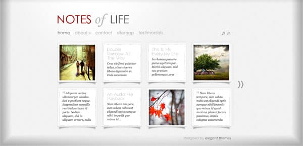Thème WordPress Grille - Notes of Life