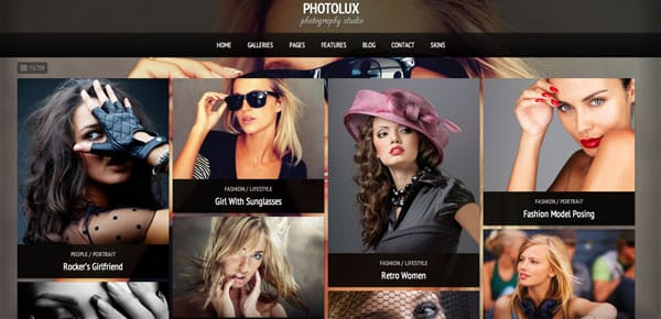 Thème WordPress Grille - Photolux