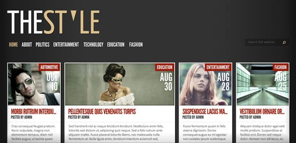 Thème WordPress Grille - The Style