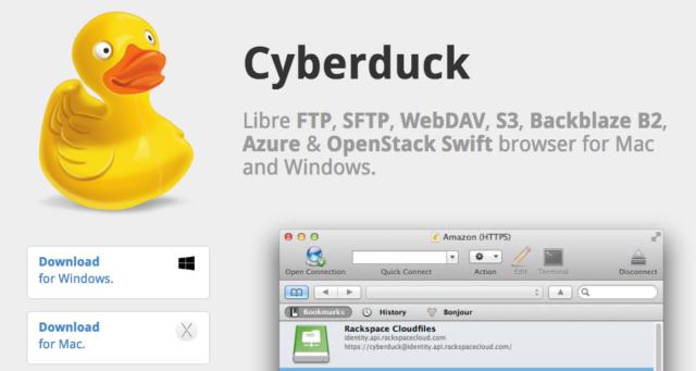 Client FTP Cyberduck